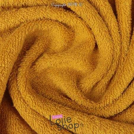 Tissu Éponge Serviette gamme Thalasso oeko tek Couleur Moutardee