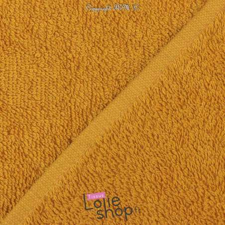 Tissu Éponge Serviette gamme thalasso oeko tek Couleur Moutarde