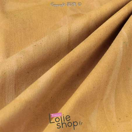 Coton Bengaline Stretch Tie And Dye Ocre