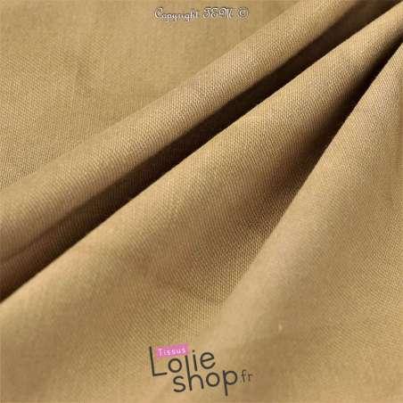 Coton Bengaline Stretch Tie And Dye Beige