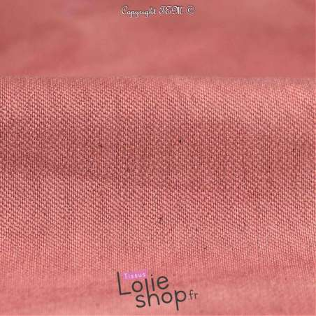 Coton Bengaline Stretch Tie And Dye Rose