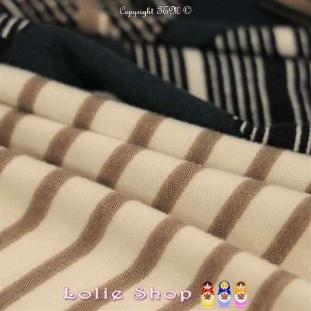 Jersey Polyester Gratté Imprimé Modèle JOY Couleur Ton Beige et Noir Sur fond Vert Canard