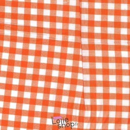 Coton Vichy 10mm Orange