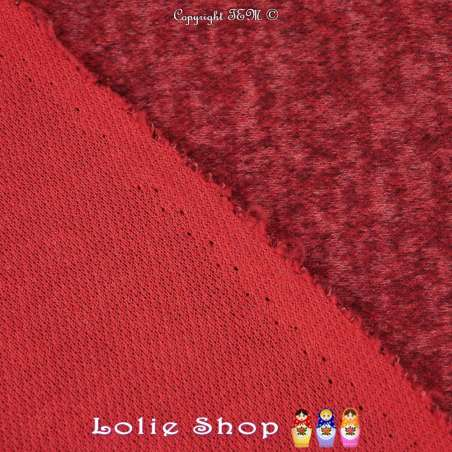 Jersey Sweat Chiné Gamme BLOOM Couleur Rouge