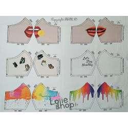 Popeline Coton OEKO-TEX - Motifs Placés pour Masques