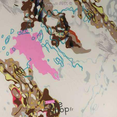 Microfibre Élasthanne Motif Marbre Fantaisie