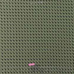 Tissu Double Crêpe Kaki motif Petits Nœuds