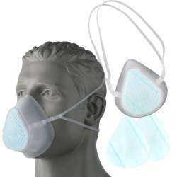 Masque de protection en silicone réutilisable + 12 Filtres