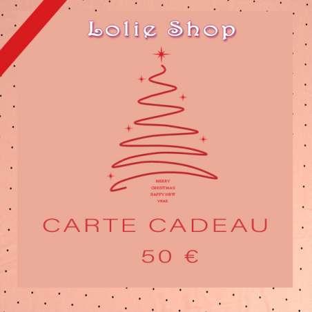 Carte Cadeau 50€ - Plaisir d'offrir