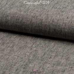 Tissu Lin Coton Mélange Noir
