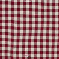 Coton Vichy 10mm Bordeaux