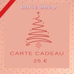 Carte Cadeau 25€ - Plaisir d'offrir