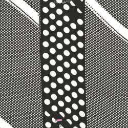 Tissu Crêpe Georgette Noir à Pois Blancs