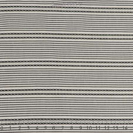 Jacquard Coton Imprimé Rayure Couleur Noir
