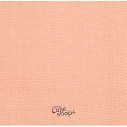 Tissu Viscose Petits Pois Blanc Fond Rose Pale