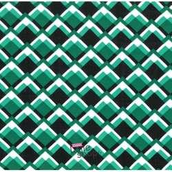 Tissu Viscose Imprimé Graphique Ton Vert