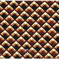Tissu Viscose Imprimé Graphique Ton Bordeaux