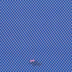 Tissu Viscose Imprimé Losange Bleu