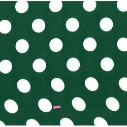 Tissu Viscose Gros Pois Fond Vert