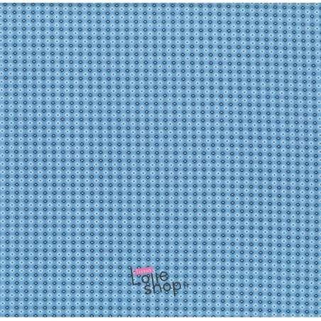 Popeline Coton Imprimé Petites Fleurs bleues et Blanches