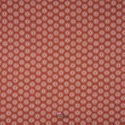 Popeline Coton UNBRELLA Imprimé Étoile Géométrique Terracota