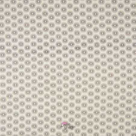 Popeline Coton UNBRELLA Imprimé Étoile Géométrique Blanc