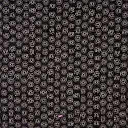 Popeline Coton UNBRELLA Imprimé Étoile Géométrique Noir