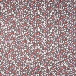 Popeline Coton Imprimé Fleurs De Vanille Thème Gris