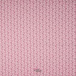 Popeline Coton Imprimé Marguerite Thème Rose