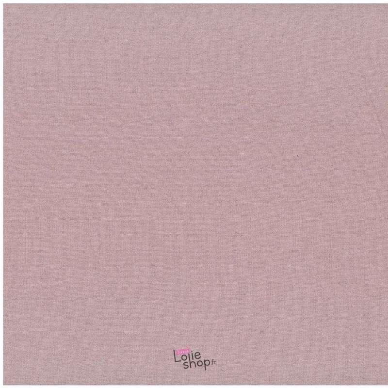 Toile de Coton Jenny Uni Vieux Rose