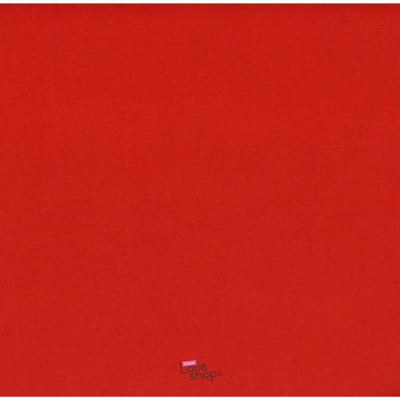 Coupon 3 Mètres Lainage Uni Couleur Rouge