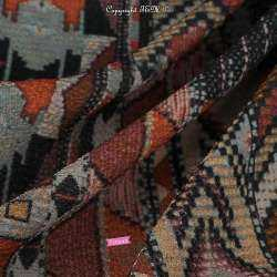 Tissu Crêpe Polyester Imprimé Graphique