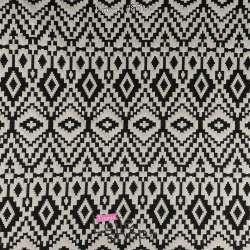 Maille Jacquard Motif Géométrique Blanc et Noir
