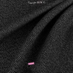 Toile de Coton Lourde Noir Chiné