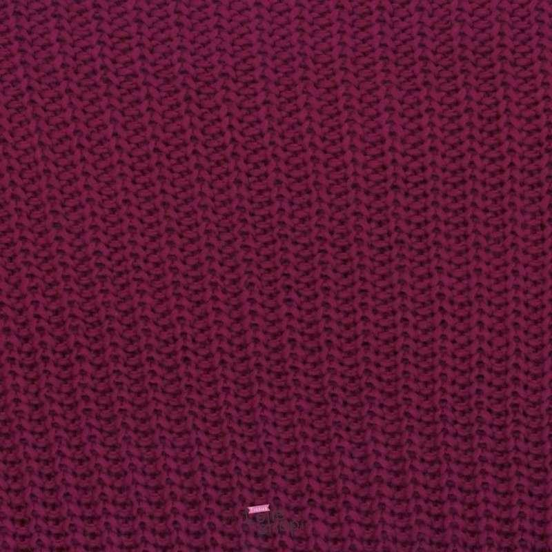 Tissu Maille Effet Tricoté ANNA Couleur Rose Fushia