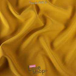 Tissu Double Crêpe Lourd Uni Jaune