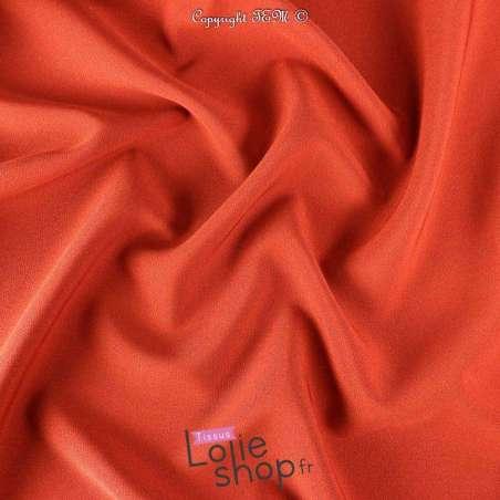 Tissu Double Crêpe Lourd Uni Terracotta