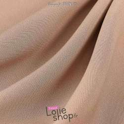 Tissu Double Crêpe Lourd Uni Vieux Rose