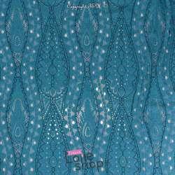 Tissu Dentelle Bleu Canard