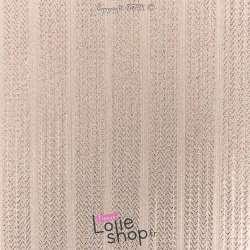 Tissus Maille Côtes Lurex Couleur Rose Pastel