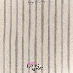 Tissu Dentelle Ecru Lurex Multicolore
