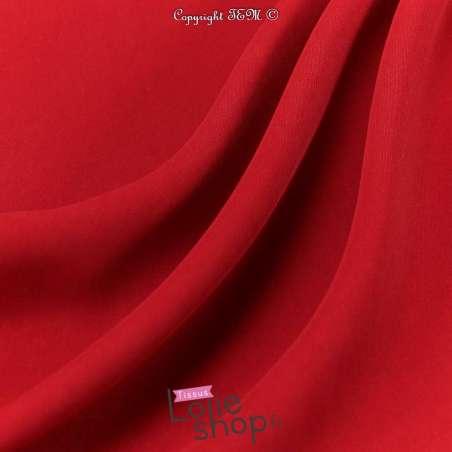 Microfibre Elasthanne Lourde Uni Rouge