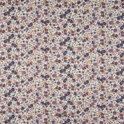 Popeline Coton Impression Digital Fleuris Ton Lilas
