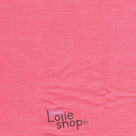 Coupon Chambray Coton Couleur Rose