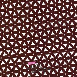 Crêpe Ajouré Triangle - Bordeaux