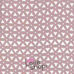 Crêpe Ajouré Triangle - Vieux Rose