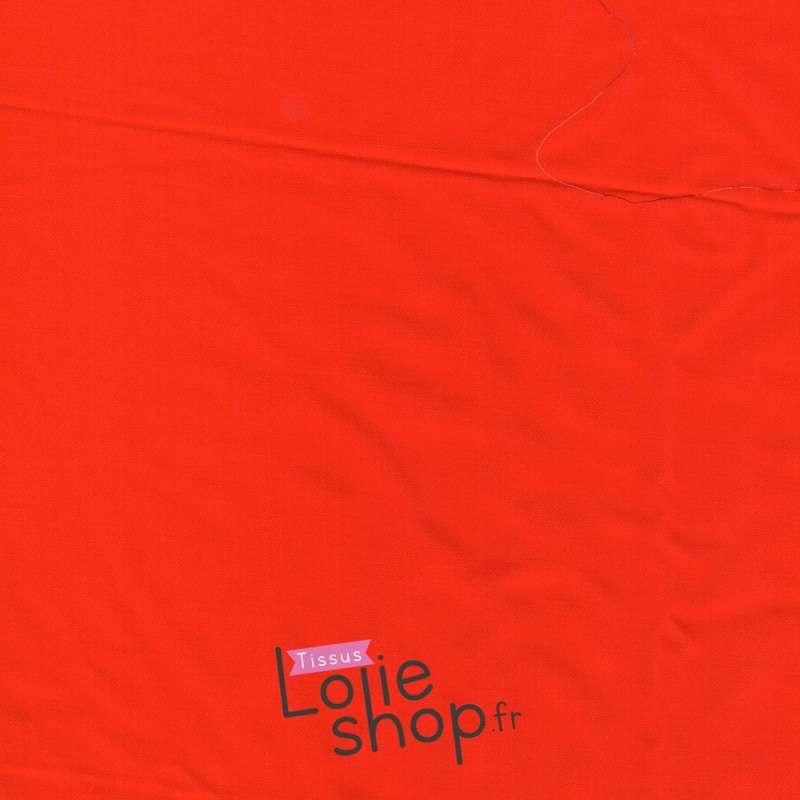 Tissu Twill Viscose Uni couleur Rouge