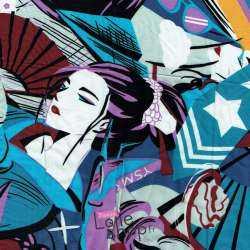 Coupon Viscose Imprimé Perso Manga