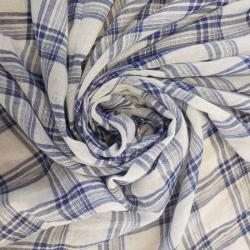 Tissus coton motif carreaux...