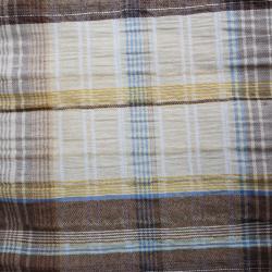 tissu coton polyester motif carreaux